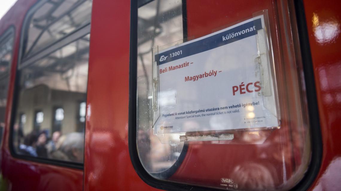 Egyre többen választják a Pécs és Eszék között közlekedő vonatokat
