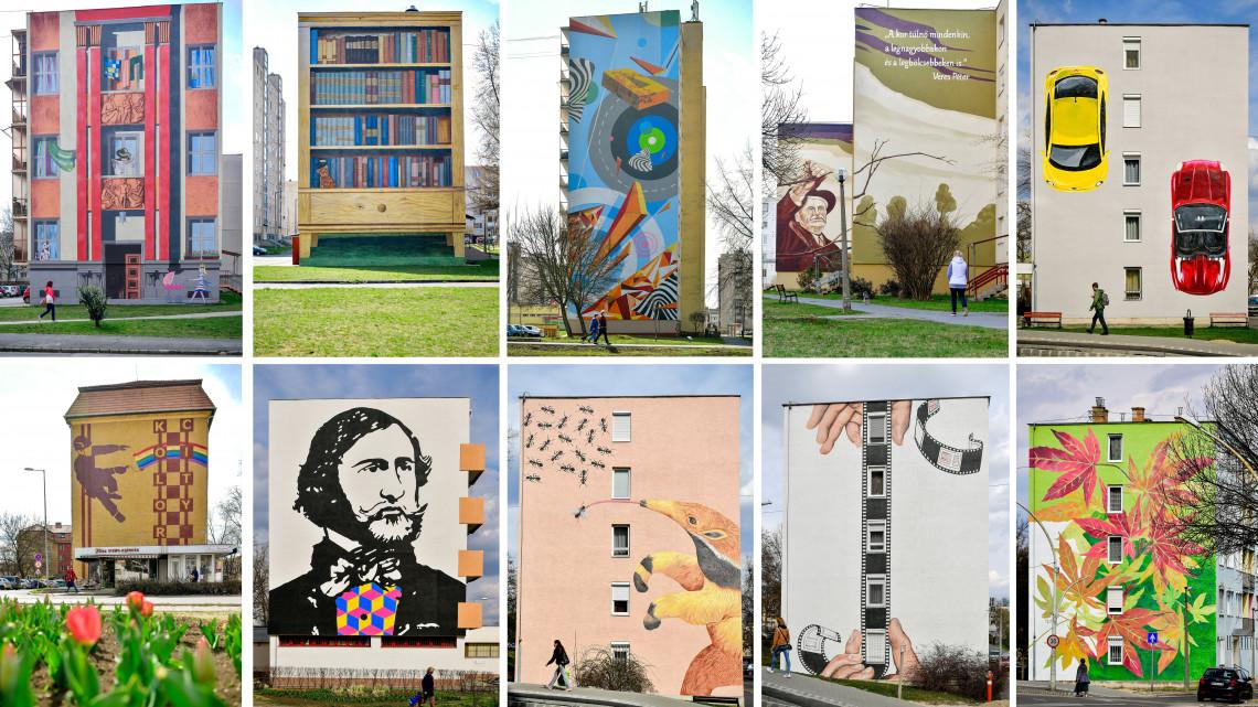 Elképesztő festmények pompáznak a kazincbarcikai panelek falain