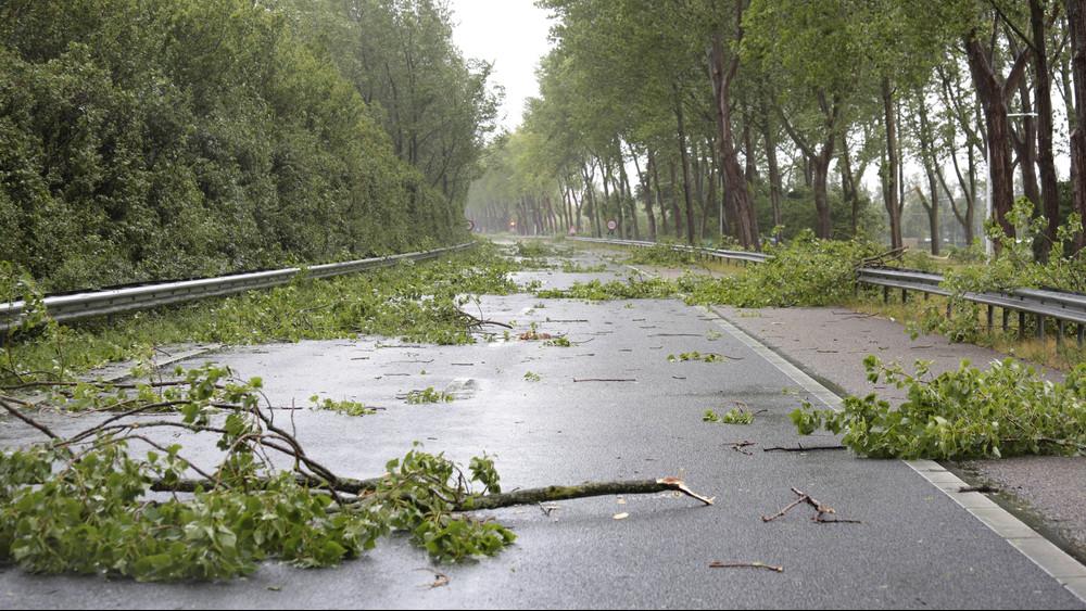 Így tombol a vihar: rengeteg a kár, egy kamion is felborult