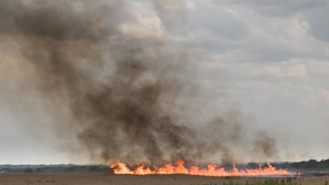 Lángokban a Mol tiszaújvárosi üzeme melletti terület
