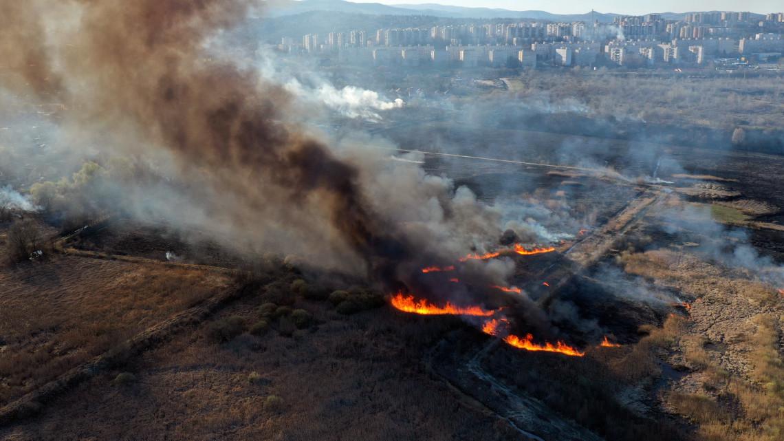Tűz Borsodban: lángokban állt a Nádasrét, így oltották