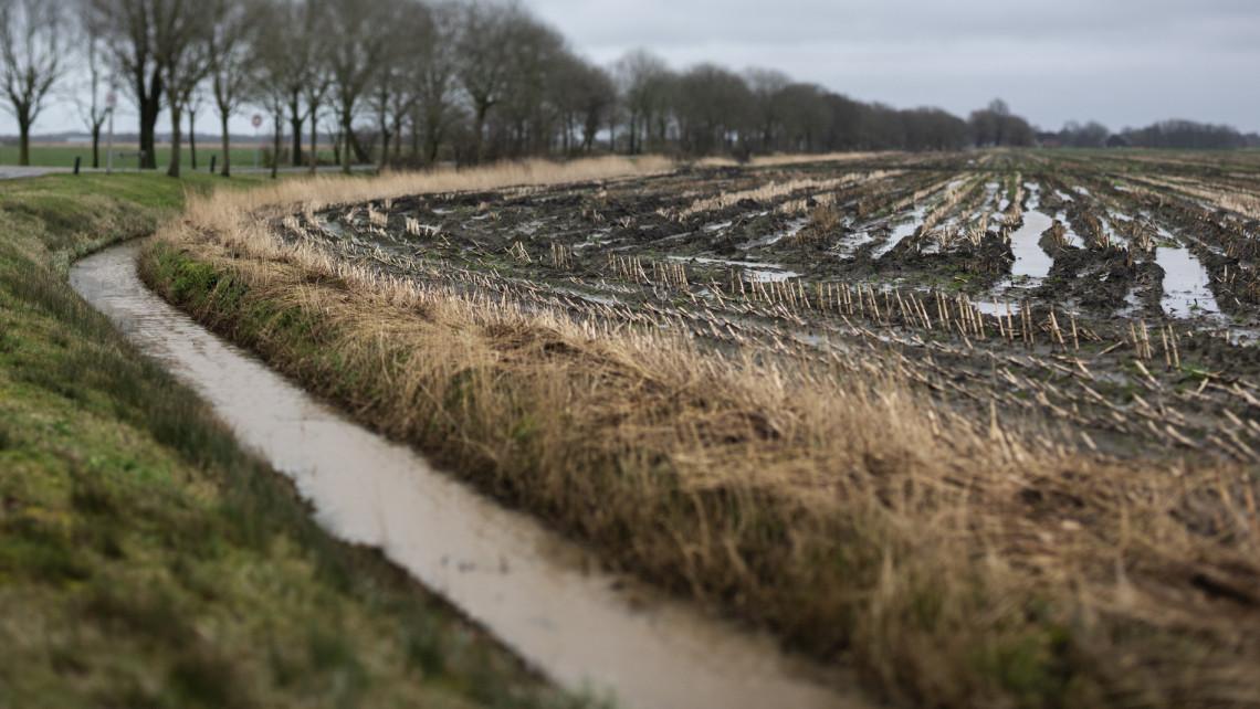 Biciklist sodort el a megáradt folyó: még az úton is hömpölygött a víz