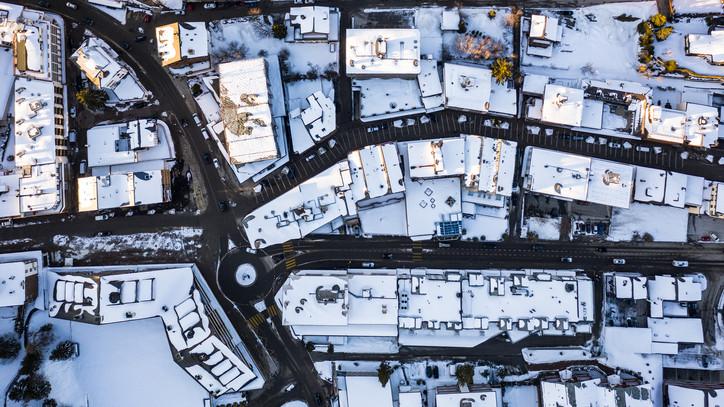 Borsodba megérkezett a tél: videón az első hóesés