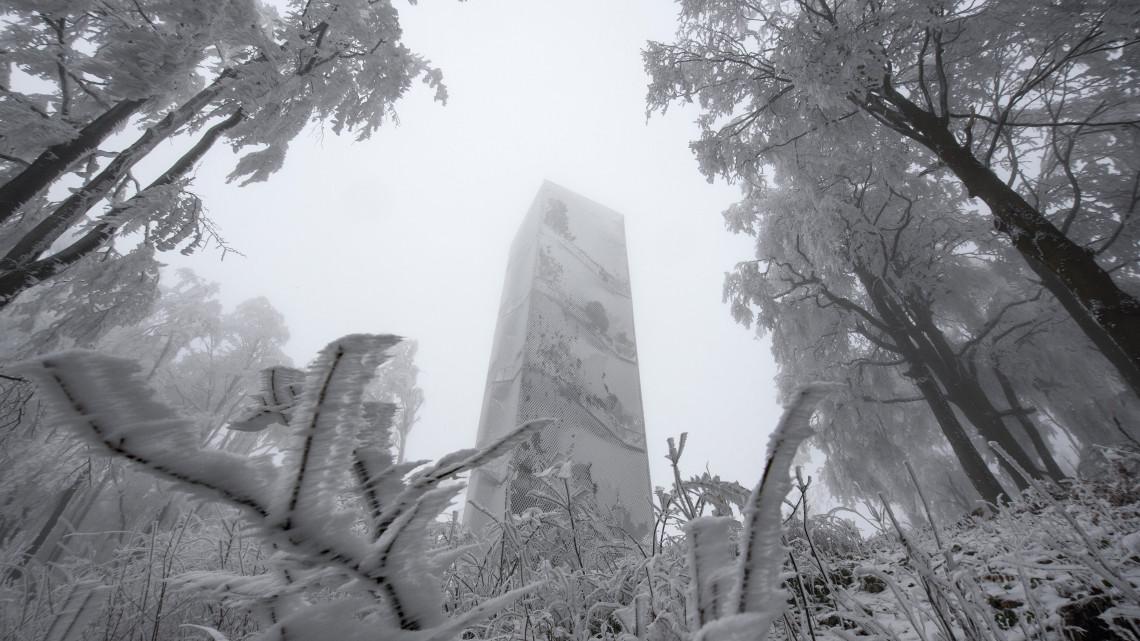Fákat dönt ki a brutálisan vastag zúzmara: a magyar hegyekben most a tél az úr