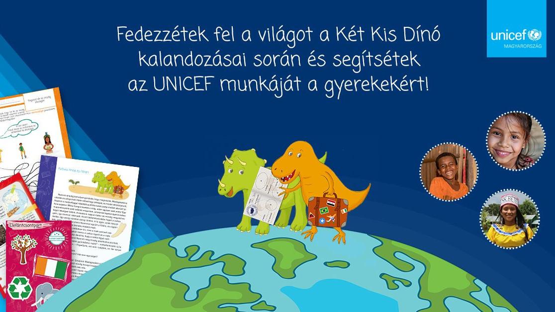 Berg Judittal és a két kis dínóval kampányol az UNICEF Magyarország